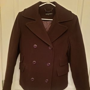 Ellabee Basic Womans Double Breasted Coat Size S
